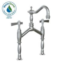 Savina Bridge Vessel Lavatory Faucet Lever Handles - Polished Chrome