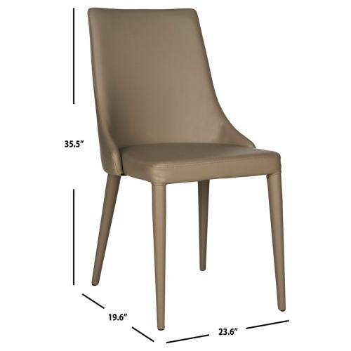 Summerset 19''h Leather Side Chair - Taupe