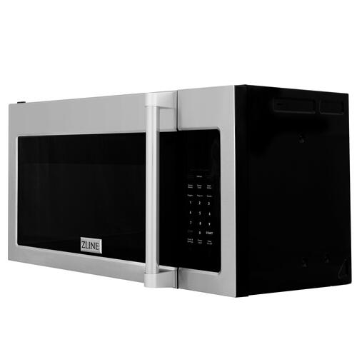 ZLINE Over the Range Convection Microwave Oven in Stainless Steel & Black Stainless Steel with Traditional Handle [Color: Black Stainless Steel]