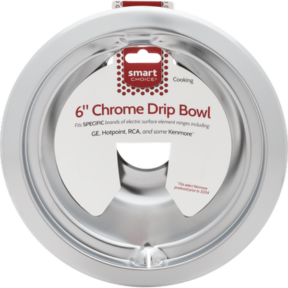 See Details - Smart Choice 6'' Chrome Drip Bowl, Fits Specific