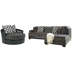 Ashley - 2-piece Sectional With Chair