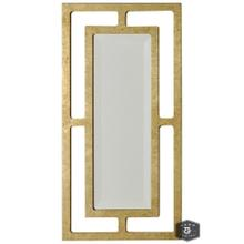 YORK MIRROR- GOLD  Gold Finish on Metal Frame  Plain Glass Beveled Mirror
