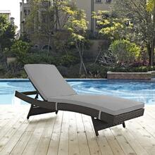 Sojourn Outdoor Patio Sunbrella® Chaise in Canvas Gray