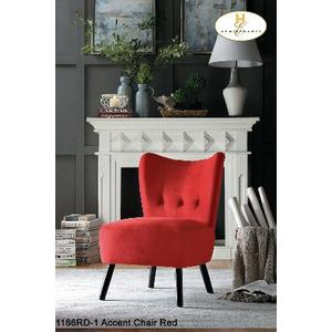Accent Chair Red