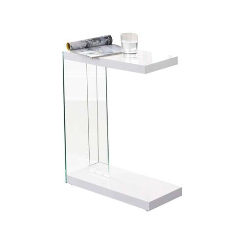 Elaina Chair Side End Table, Glossy White