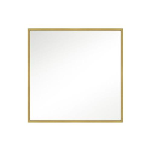 Kit Square Mirror Burnished Brass