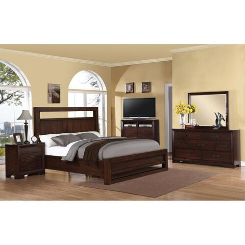 Riata - King/california King Panel Headboard - Warm Walnut Finish