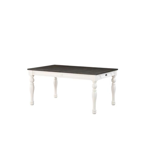 """Steve Silver Co. - Joanna Two Tone Dining Table 40""""x64""""x80""""x30"""" - 16""""Leaf"""