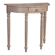 CC-TAB2272LD-AS  Rounded Front Console Table  Antique Sage