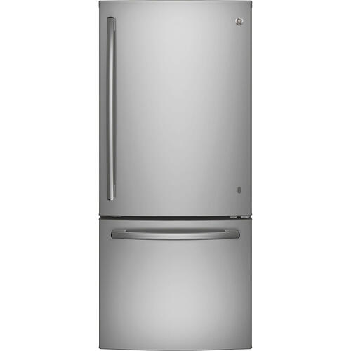 GE 20.9 cu.ft. Bottom Freezer Refrigerator Stainless Steel GBE21ASKSS
