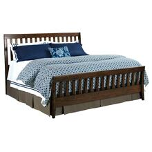 Slat Queen Bed Molasses - Complete