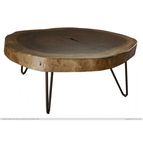 International Furniture Direct - Authentic Live-Edge Cocktail Table