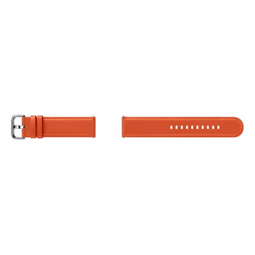 Samsung - Leather Band for Galaxy Watch Active2, Orange