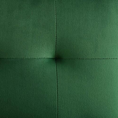 Privy Gold Stainless Steel Performance Velvet Bar Stool in Gold Emerald