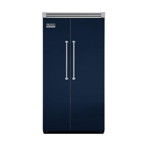"Viking - Viking Blue 42"" Side-by-Side Refrigerator/Freezer - VISB (Integrated Installation)"