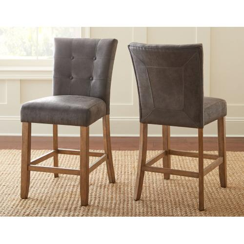 Debby Counter Chair - Grey