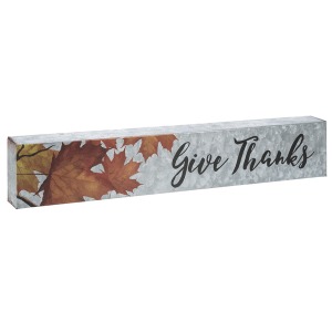 Galvanized Wall Plaque - Give Thanks