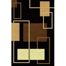 Durable Flat Weave No Shedding Lifestyle 480 Area Rug by Rug Factory Plus - 2' x 3' / Black