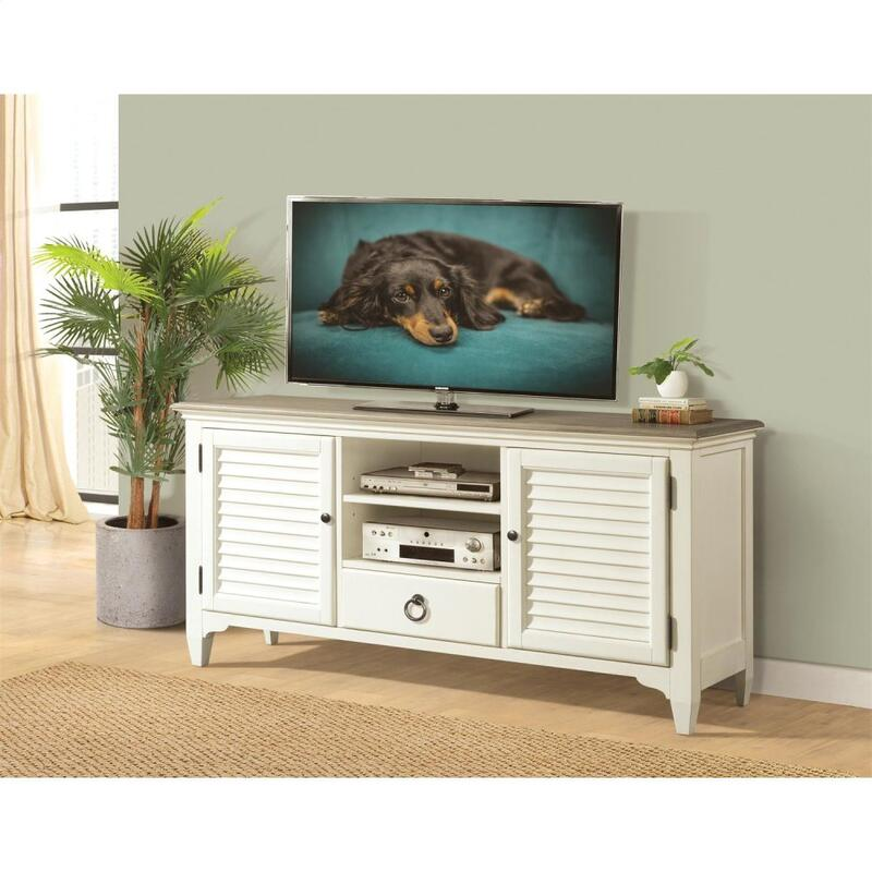 Myra - 64-inch TV Console - Natural/paperwhite Finish