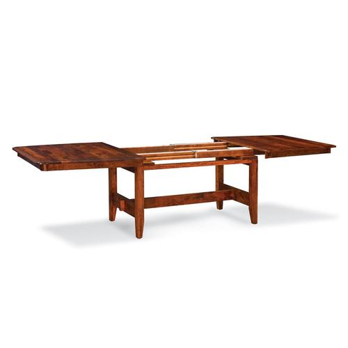 "Shenandoah Trestle Table, 42""x72"", 4-Leaves (2-lvs Only Self Store, No Aprons) Character Cherry #26, Michael's"