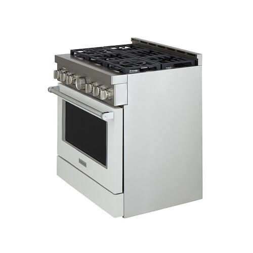 KitchenAid® 36'' Smart Commercial-Style Gas Range with 6 Burners - Matte Milkshake