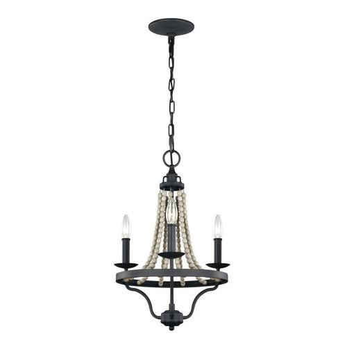 Nori Small Chandelier Dark Weathered Zinc / Driftwood Grey