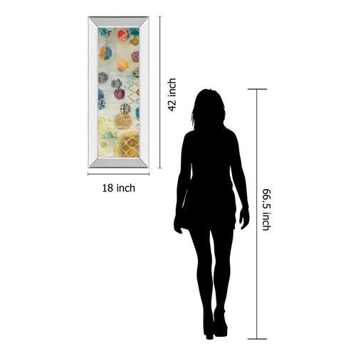 """Casa Blanca Panel I"" By Jeni Lee Mirror Framed Print Wall Art"