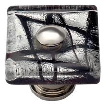 Eclipse Glass Square Knob 1 1/2 Inch - Polished Chrome