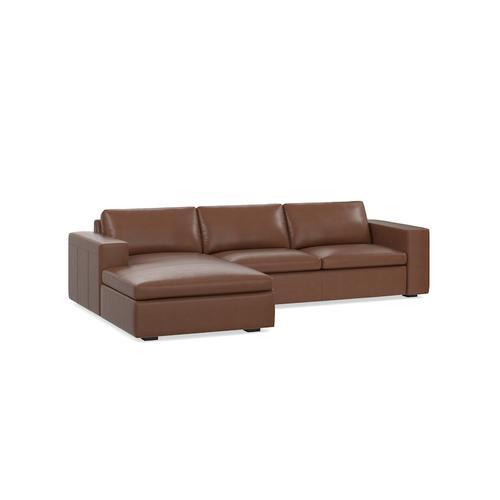 Melina Slate MODERN-Melina 2 Piece Left Chaise Sectional