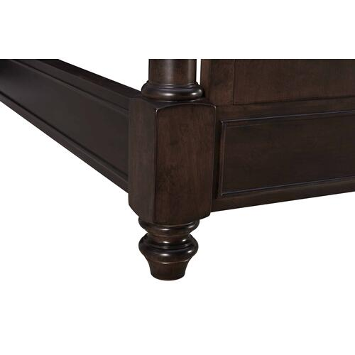 Lawrence Wood & Upholstered California King Bed Dark Cherry