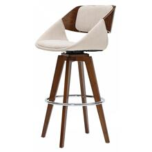 Cyprus KD Fabric Counter Stool, Santorini Sand/Walnut