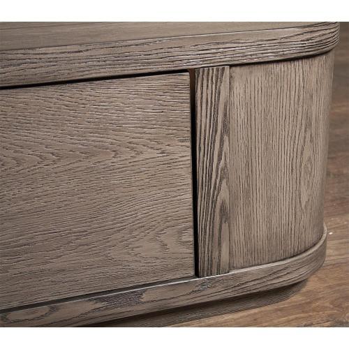 Precision - King/california King Storage Footboard - Gray Wash Finish