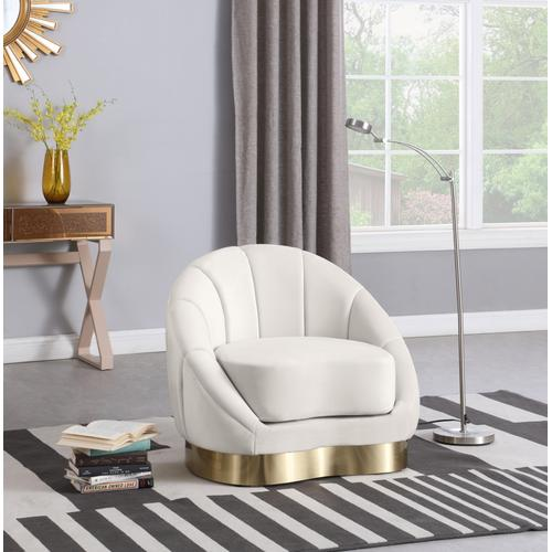 "Shelly Velvet Chair - 34.25"" W x 31"" D x 29.5"" H"