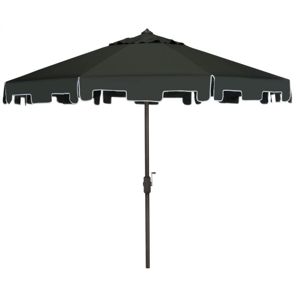 Zimmerman 9 Ft Crank Market Umbrella With Flap - Dark Green