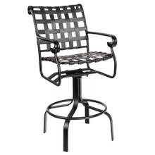 See Details - Ramsgate Strap Swivel Bar Stool with Arms
