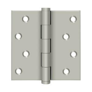 """Deltana - 4"""" x 4"""" Square Hinges Residential / Zig-Zag - Brushed Nickel"""