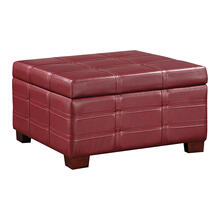 See Details - Detour Strap Storage Ottoman With Tray