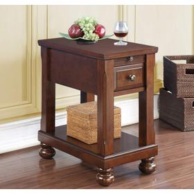 Chairside Table W/power Outlet (rta)
