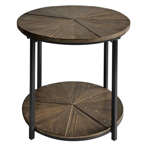 Product Image - Jackson Round Metal and Rustic Wood End Table
