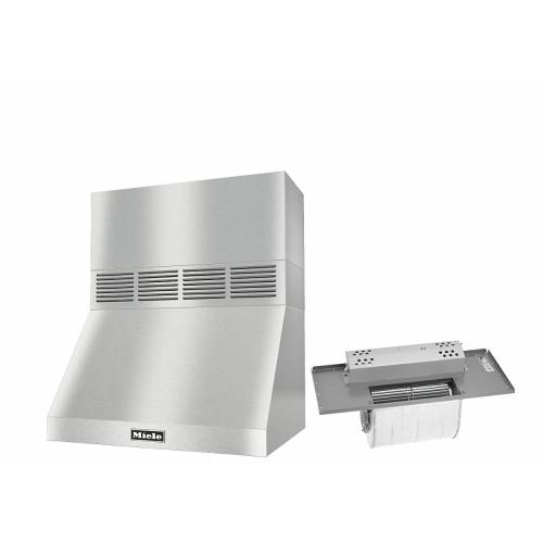 """DAR 1220 Set 3 Wall-Mounted Range Hood With Circulation Mode with integrated XL motor including 12"""" chimney cover."""