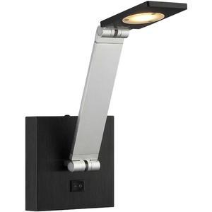 LED Wall Lamp, Silver/black, Type LED Bulb 7w