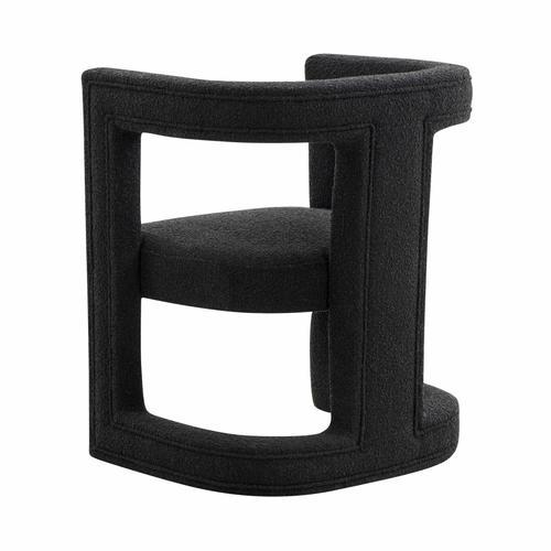 Ada Black Boucle Chair