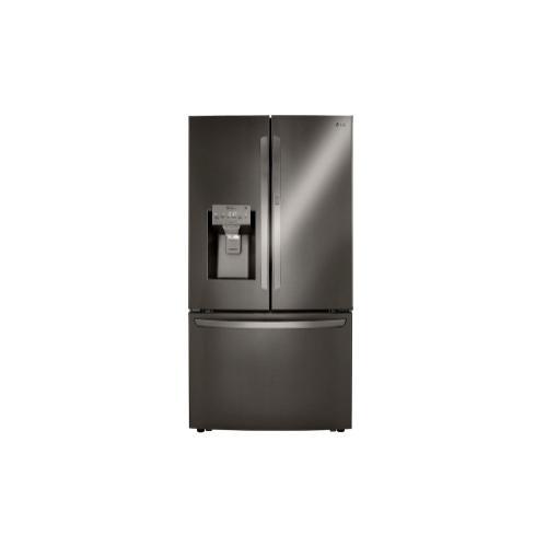 LG - 24 cu. ft. Smart wi-fi Enabled Door-in-Door® Counter-Depth Refrigerator with Craft Ice™ Maker