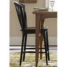 View Product - Windsor Counter Chair - Black