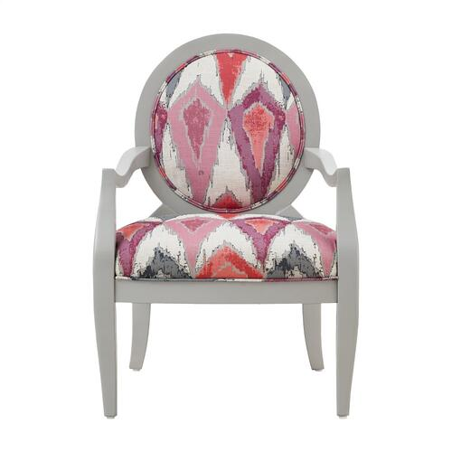 Upholstered Seat and Back Accent Chair, Light Grey