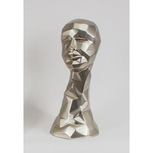"""Artmax - """"Ella"""", Silver 9x8.5x20.5"""""""