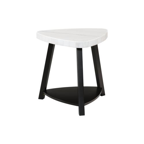 Trinity White Marble Top End Table