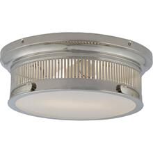 Visual Comfort CHC4391PN-WG E. F. Chapman Alderly 2 Light 13 inch Polished Nickel Flush Mount Ceiling Light