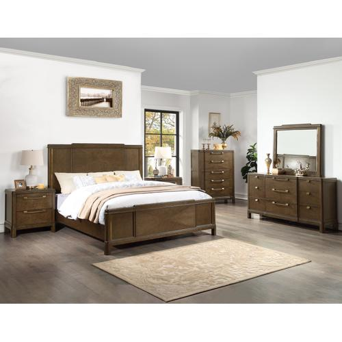 Milan 4-Piece King Bedroom Set (King Bed, Nightstand, Dresser/Mirror) (Copy)