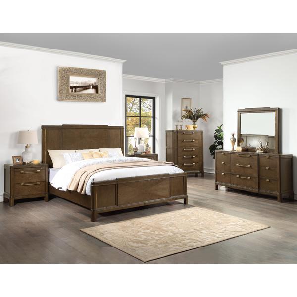 Milan 4-Piece King Bedroom Set (King Bed, Nightstand, Dresser/Mirror) (Copy)
